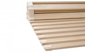 Ein solider Rollrost aus massivem Lindenholz, mit allen Eigenschaften, ist alles was man braucht, um ein Schlafpolster vernünftig zu tragen. Metallfrei, stabil, atmungsaktiv.